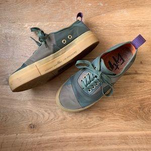 Eytys x Simon Mullan Green Patchwork Sneaker